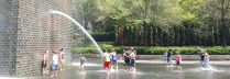 Kids having fun at Crown Fountain, Chicago.